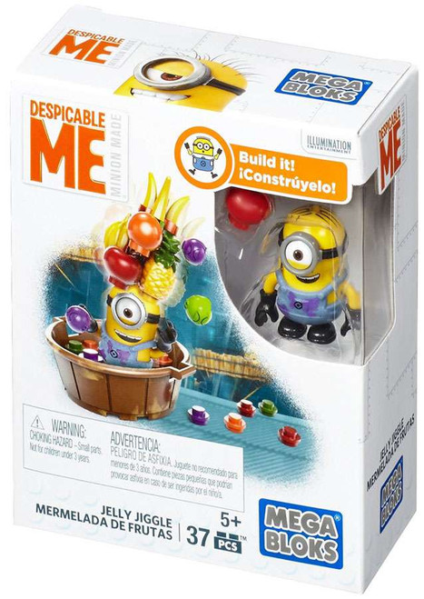Mega Bloks Despicable Me Minion Made Jelly Jiggle Set #25227