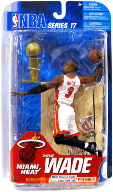 McFarlane Toys NBA Miami Heat Sports Picks Series 17 Dwyane Wade Action Figure [White Jersey & Trophy, Damaged Package]