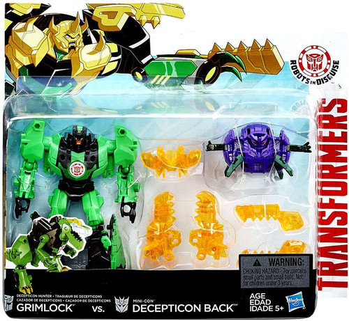 Transformers Robots in Disguise Minicon Battle Pack Grimlock & Decepticon Back Action Figure