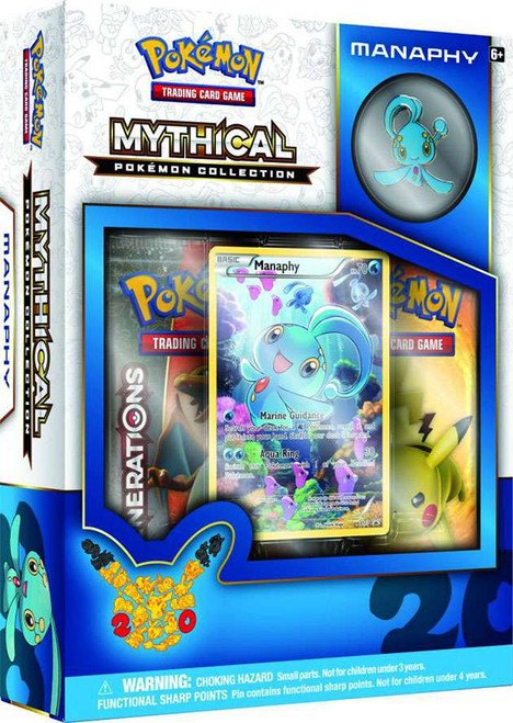 Pokemon Trading Card Game Mythical Manaphy Collection Box [2 Booster Packs, Promo Card & Pin!]