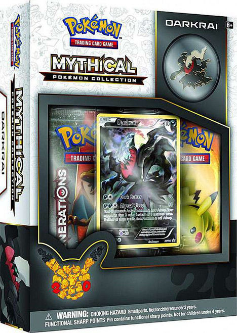 Pokemon Trading Card Game Mythical Darkrai Collection Box [2 Booster Packs, Promo Card & Pin!]