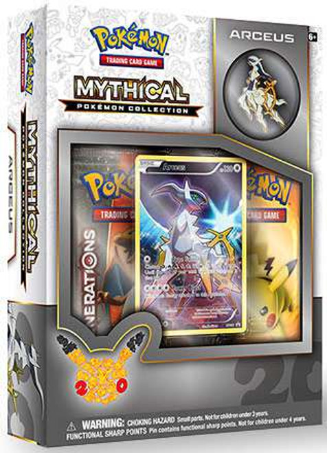Pokemon Trading Card Game Mythical Arceus Collection Box [2 Booster Packs, Promo Card & Pin!]