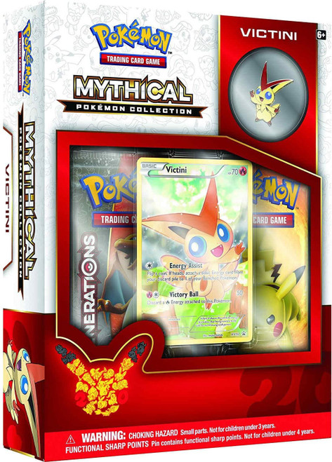 Pokemon Trading Card Game Mythical Victini Collection Box [2 Booster Packs, Promo Card & Pin!]