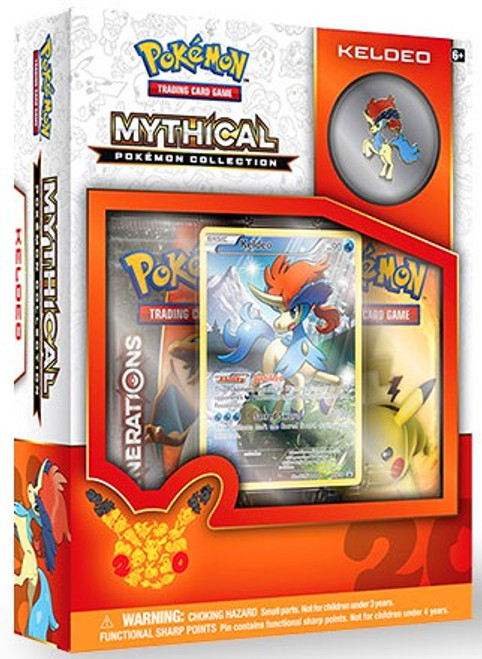 Pokemon Trading Card Game Mythical Keldeo Collection Box [2 Booster Packs, Promo Card & Pin!]