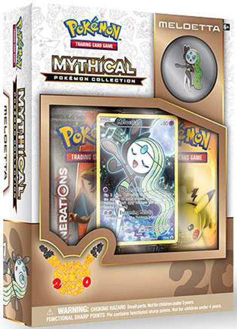 Pokemon Trading Card Game Mythical Meloetta Collection Box [2 Booster Packs, Promo Card & Pin!]