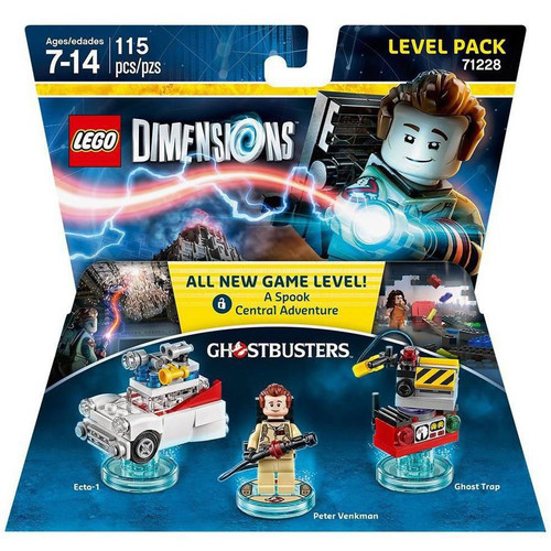 LEGO Dimensions Ghostbusters Ecto-1, Peter Venkman & Ghost Trap Level Pack #71228