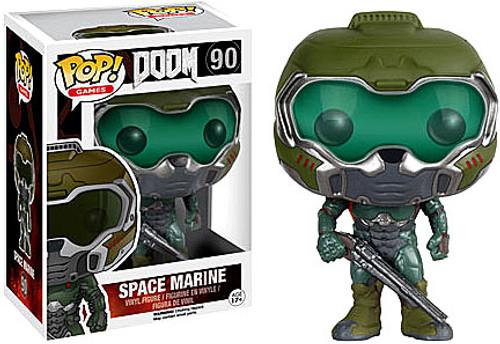 Funko Doom POP! Games Space Marine Vinyl Figure #90 [Green]