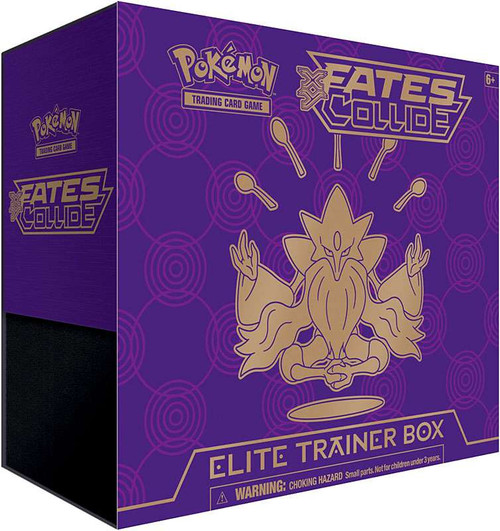 Pokemon Trading Card Game XY Fates Collide Mega Alakazam-EX Elite Trainer Box [8 Booster Packs, 65 Card Sleeves, 45 Energy Cards & More]