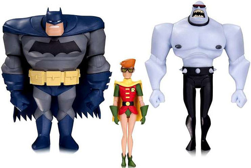 The Animated Series Batman, Robin & Mutant Leader Action Figure 3-Pack Set