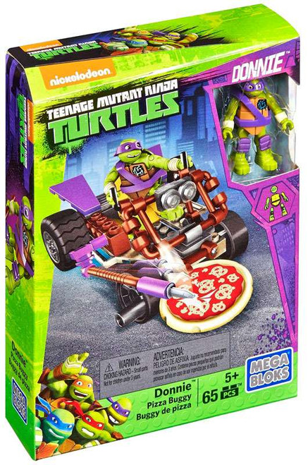 Mega Bloks Teenage Mutant Ninja Turtles Animation Donnie's Pizza Buggy Set #29024