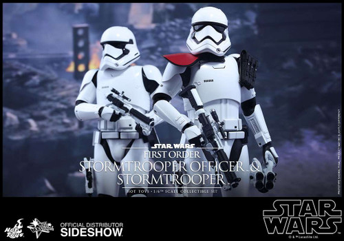 Star Wars The Force Awakens Movie Masterpiece First Order Stormtrooper Officer and Stormtrooper Collectible Figures