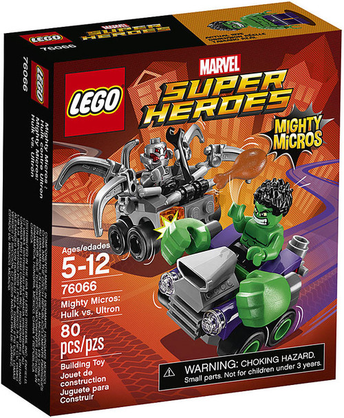 LEGO Marvel Super Heroes Mighty Micros Hulk vs. Ultron Set #76066
