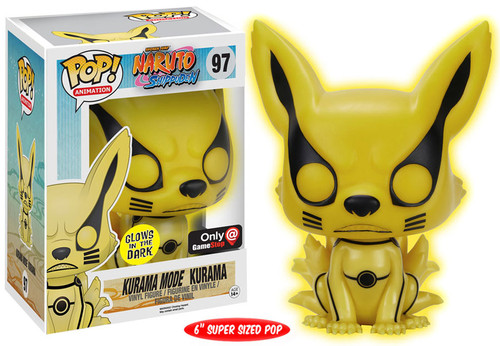 Funko Naruto POP! Anime Kurama Mode Kurama Exclusive 6-Inch Vinyl Figure #97 [Super-Sized, Glow-in-the-Dark]