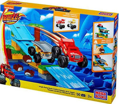 Mega Bloks Blaze & the Monster Machines Jungle Ramp Rush Set #31739
