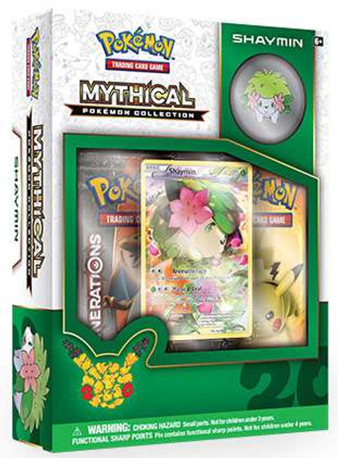 Pokemon Trading Card Game Mythical Shaymin Collection Box [2 Booster Packs, Promo Card & Pin!]