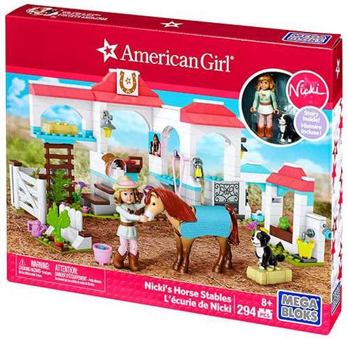 Mega Bloks American Girl Nicki's Horse Stables Set #31926