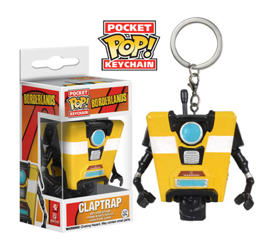 Funko Borderlands Pocket POP! Games Claptrap Keychain