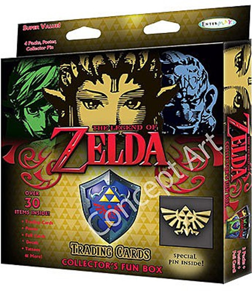 The Legend of Zelda Trading Card Collector's Fun Box [4 Packs, Poster & Special Pin]