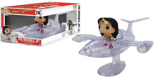 Funko DC POP! Rides Wonder Woman's Invisible Jet Vinyl Figure #16