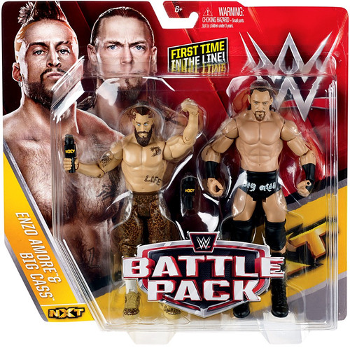 WWE Wrestling Battle Pack Series 40 Enzo Amore & Big Cass Action Figure 2-Pack