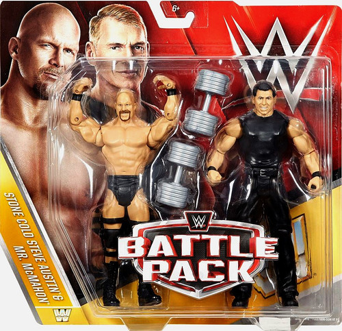 WWE Wrestling Battle Pack Series 40 Stone Cold Steve Austin & Mr. McMahon Action Figure 2-Pack