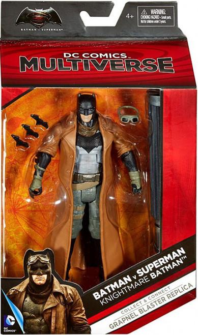 DC Batman v Superman: Dawn of Justice Multiverse Grapnel Blaster Series Knightmare Batman Action Figure