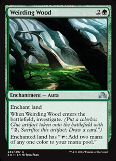 MtG Shadows Over Innistrad Uncommon Weirding Wood #240