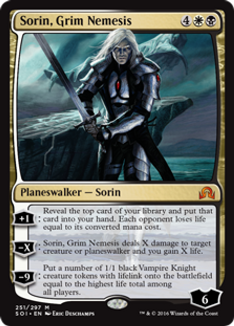 MtG Shadows Over Innistrad Mythic Rare Sorin, Grim Nemesis #251