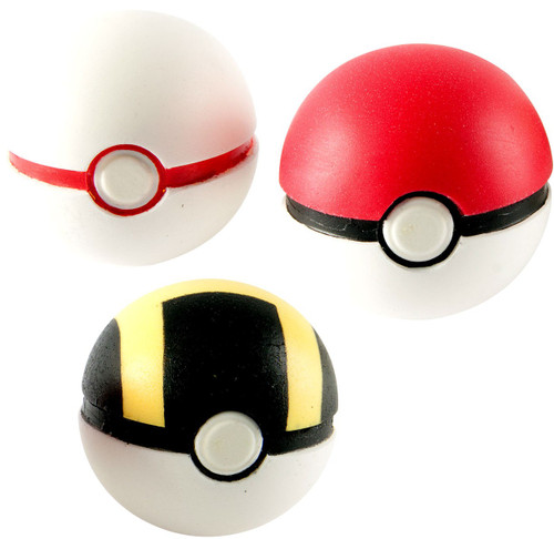 Pokemon Throw n Catch Ultra, Poke & Premier Poke Ball 3-Pack