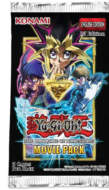 YuGiOh Trading Card Game Dark Side of Dimensions Movie Pack Booster Pack [5 Cards]