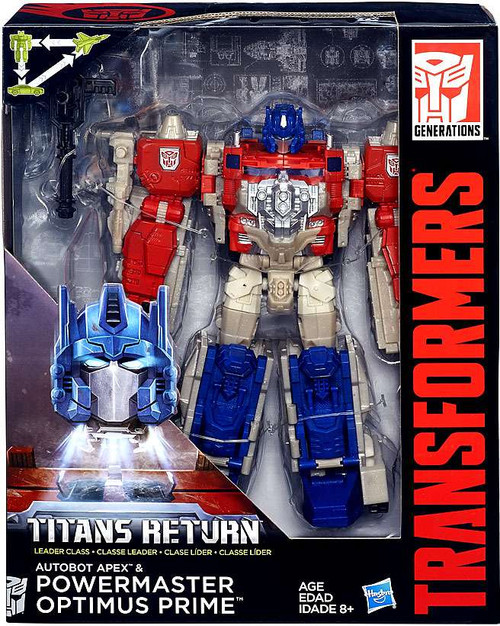 Transformers Generations Titans Return Powermaster Optimus Prime & Autobot Apex Leader Action Figure