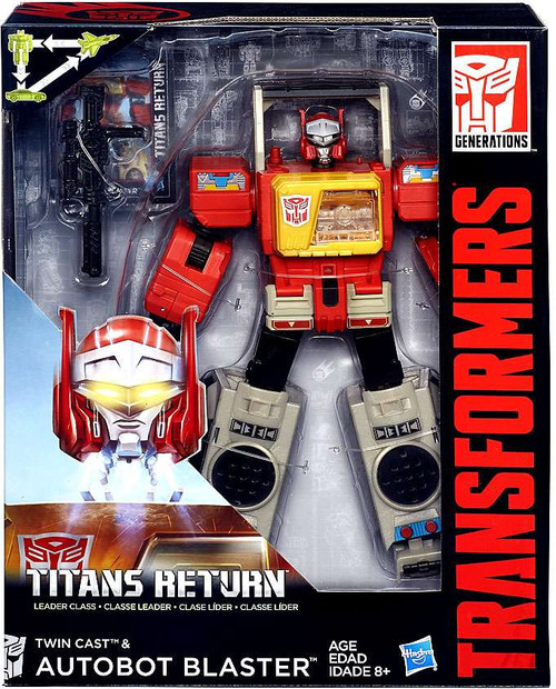 Transformers Generations Titans Return Autobot Blaster & Twin Cast Leader Action Figure