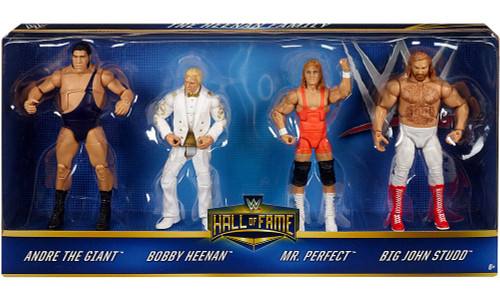 WWE Wrestling Hall of Fame Andre the Giant, Bobby Heenan, Mr. Perfect & Big John Studd Action Figure 4-Pack [Heenan Family]