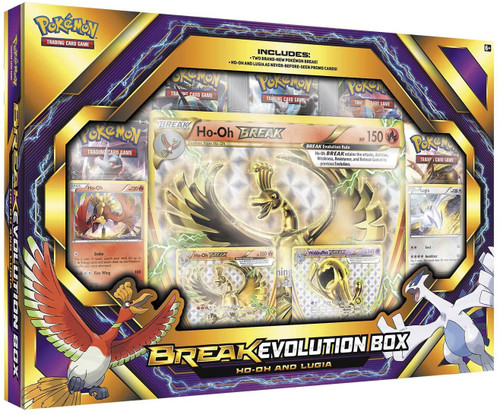 Pokemon Trading Card Game XY BREAKthrough Ho-Oh & Lugia BREAK Evolution Box [5 Booster Packs, 4 Promo Cards & Oversize Card!]