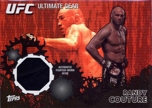 Topps UFC 2010 Championship Ultimate Gear Relic Randy Couture UG-RC [Black Background]