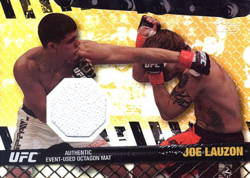 Topps UFC 2010 Championship Fight Mat Relic Joe Lauzon FM-JL [White]