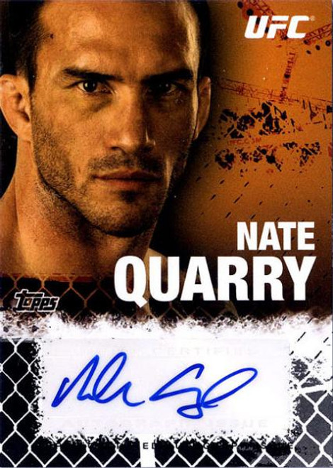 Topps UFC 2010 Championship Nate Quarry Autograph Fighters & Personalities Autograph Card FA-NQ
