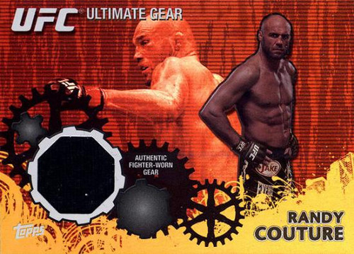 Topps UFC 2010 Championship Ultimate Gear Relic Randy Couture UG-RC [Yellow Background]
