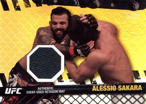 Topps UFC 2010 Championship Fight Mat Relic Alessio Sakara FM-AS [Black]