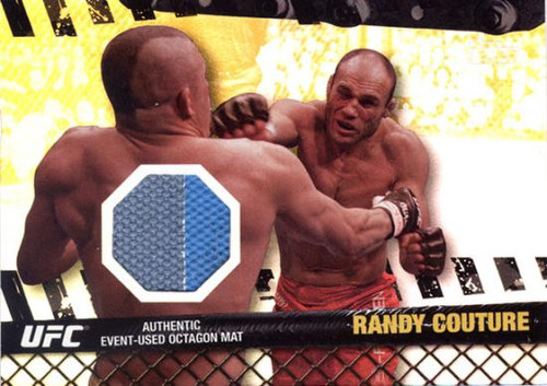 Topps UFC 2010 Championship Fight Mat Relic Randy Couture FM-RC [Gray & Blue]
