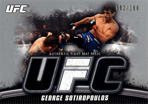 Topps UFC 2010 Knockout Silver Mat Relic George Sotiropoulos FM-GS