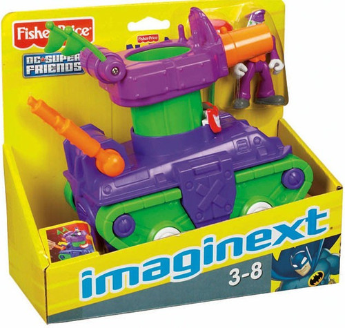 Fisher Price DC Super Friends Imaginext The Joker Tank 3-Inch Figure Set