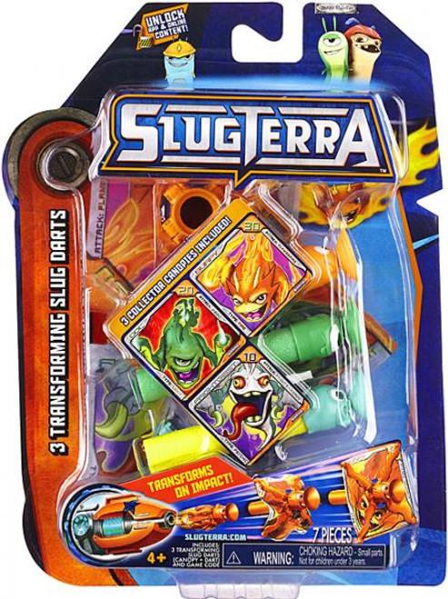 Slugterra Blaster & Evo Dart Transforming Slug Darts 3-Pack Exclusive [Burpy V2, Doc V2 & Frightgeist V2]