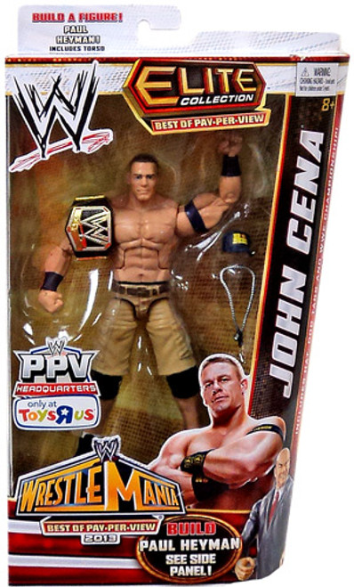 WWE Wrestling Elite Collection Best of Pay Per View John Cena Exclusive Action Figure [Build Paul Heyman]
