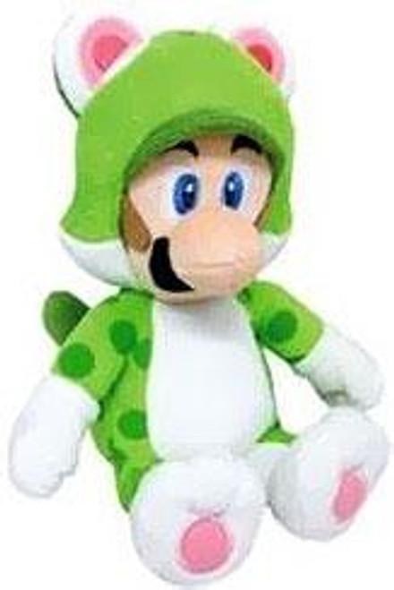 Super Mario 3D World Luigi 14-Inch Plush [Cat]