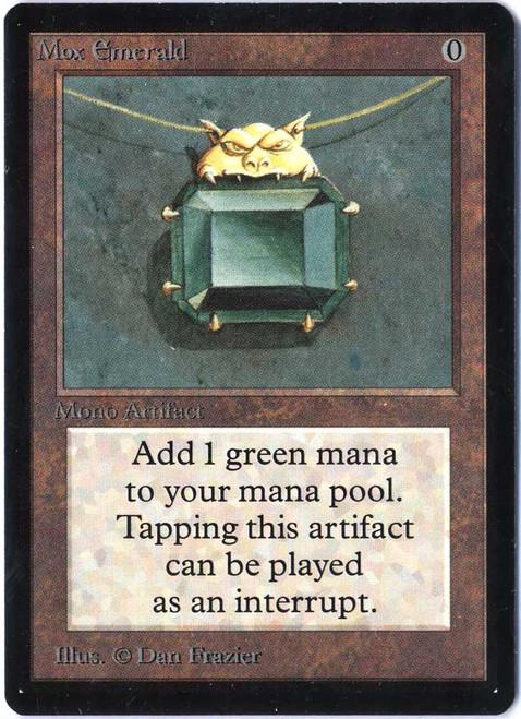 MtG Beta Rare Mox Emerald [Slightly Played]