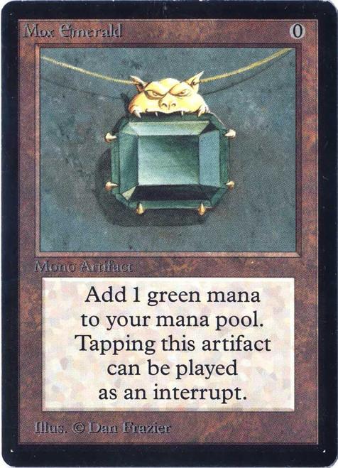 MtG Beta Rare Mox Emerald [Near Mint B]