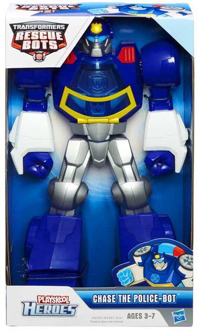 """Transformers Playskool Heroes Rescue Bots Chase The Police-Bot 11"""" Action Figure [11 Inch]"""