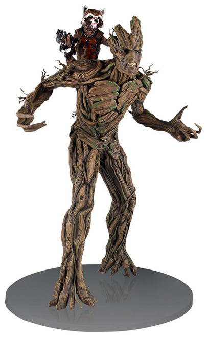 Marvel Guardians of the Galaxy Rocket Raccoon & Groot 21-Inch Statue
