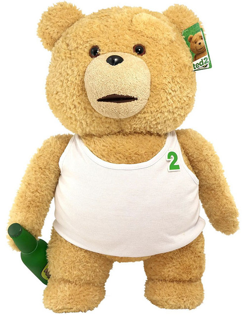 Ted 2 Ted in Tank Top with Beer 24-Inch Talking Plush [Explicit]